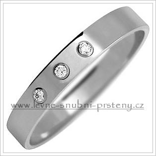 Snubní prsteny LSP 2129b bílé zlato