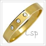 Snubní prsteny LSP 2129z žluté zlato se zirkony
