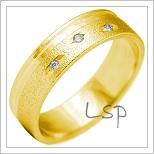 Snubní prsteny LSP 2132 žluté zlato