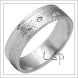 Snubní prsteny LSP 2132b bílé zlato