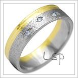 Snubní prsteny LSP 2132k kombinované zlato