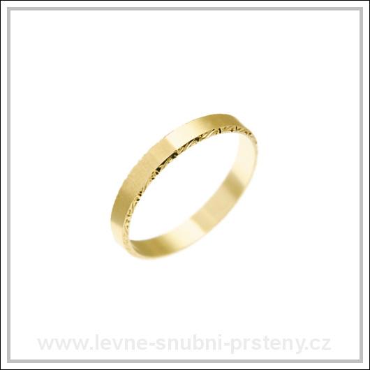 Snubní prsteny LSP 2135 žluté zlato