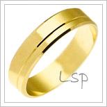 Snubní prsteny LSP 2136 žluté zlato