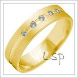 Snubní prsteny LSP 2141 žluté zlato