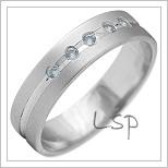Snubní prsteny LSP 2141b bílé zlato