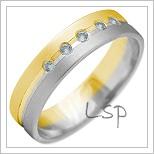 Snubní prsteny LSP 2141k kombinované zlato