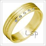 Snubní prsteny LSP 2142 žluté zlato