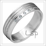 Snubní prsteny LSP 2142b bílé zlato