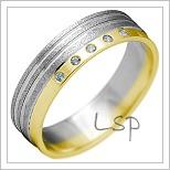 Snubní prsteny LSP 2142k kombinované zlato