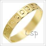 Snubní prsteny LSP 2143 žluté zlato