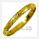 Snubní prsteny LSP 2146 žluté zlato