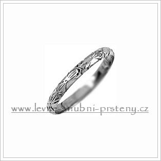 Snubní prsteny LSP 2146b bílé zlato