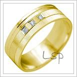 Snubní prsteny LSP 2147 žluté zlato