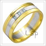 Snubní prsteny LSP 2147k kombinované zlato