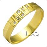 Snubní prsteny LSP 2149 žluté zlato