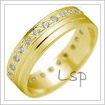 Snubní prsteny LSP 2150 žluté zlato