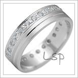 Snubní prsteny LSP 2150b bílé zlato