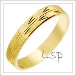 Snubní prsteny LSP 2151 žluté zlato