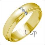 Snubní prsteny LSP 2153 žluté zlato