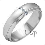 Snubní prsteny LSP 2153b bílé zlato