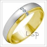 Snubní prsteny LSP 2153k kombinované zlato