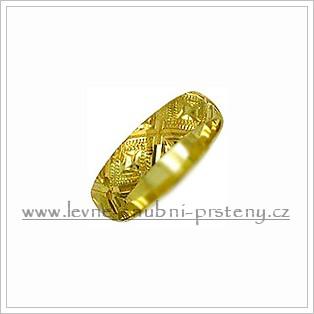 Snubní prsteny LSP 2154 žluté zlato