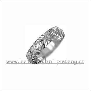 Snubní prsteny LSP 2154b bílé zlato