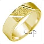 Snubní prsteny LSP 2155 žluté zlato