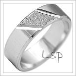 Snubní prsteny LSP 2155b bílé zlato