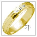 Snubní prsteny LSP 2156 žluté zlato