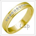 Snubní prsteny LSP 2158 žluté zlato