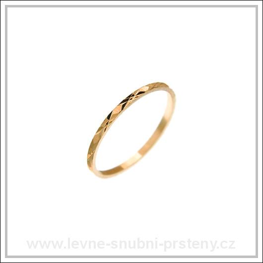 Snubní prsteny LSP 2160 červené zlato