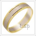 Snubní prsteny LSP 2161 kombinované zlato