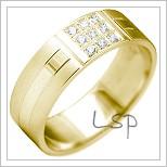 Snubní prsteny LSP 2162 žluté zlato