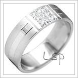 Snubní prsteny LSP 2162b bílé zlato