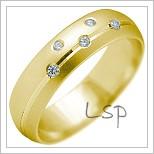 Snubní prsteny LSP 2164 žluté zlato