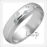 Snubní prsteny LSP 2164b bílé zlato