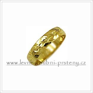 Snubní prsteny LSP 2166 žluté zlato