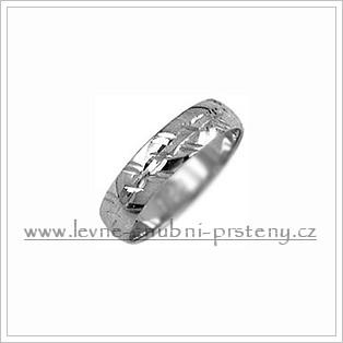 Snubní prsteny LSP 2166b bílé zlato