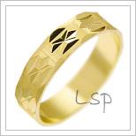 Snubní prsteny LSP 2168 žluté zlato