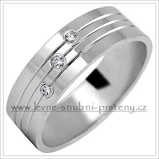 Snubní prsteny LSP 2169b bílé zlato