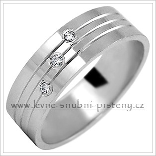Snubní prsteny LSP 2169bz bílé zlato