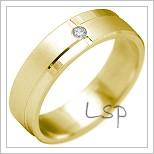 Snubní prsteny LSP 2170 žluté zlato