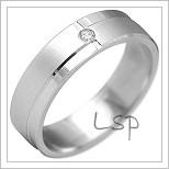 Snubní prsteny LSP 2170b bílé zlato
