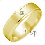 Snubní prsteny LSP 2172 žluté zlato