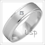 Snubní prsteny LSP 2172b bílé zlato