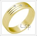 Snubní prsteny LSP 2174 žluté zlato