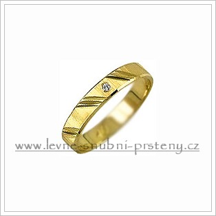Snubní prsteny LSP 2177 žluté zlato s diamanty