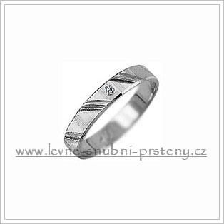 Snubní prsteny LSP 2177b bílé zlato