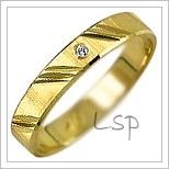 Snubní prsteny LSP 2177z žluté zlato se zirkony